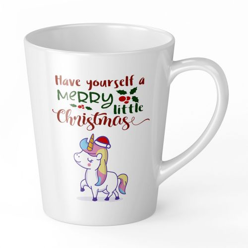 12oz Christmas Unicorn Ceramic Gift Latte Mug